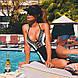 Женственный купальник с глубоким декольте размер S, фото 3