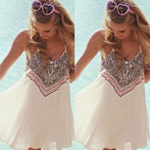 Женская легкая платье, пляжная туника белая