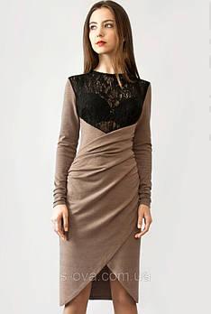 Платье женское с длинным рукавом оригинальное