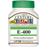 Витамин E (400 IU) 180mcg, 110 желатиновых капсул 21st Century