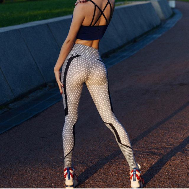Леггинсы для фитнеса с принтом