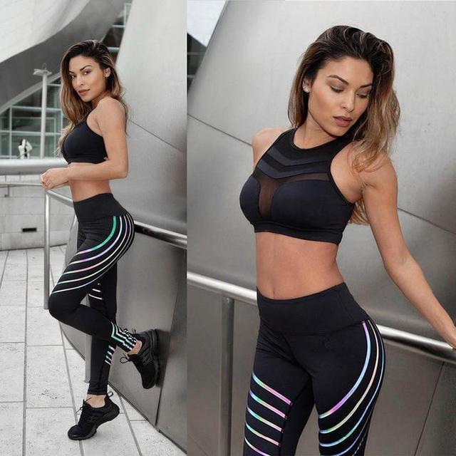 Черные женские леггинсы для фитнеса