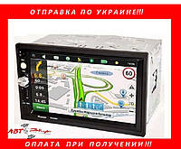Автомагнитола Pioneer PI-7023 GPS блютуз, пульт на руль, гарантия