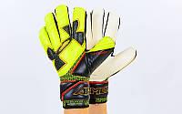 Перчатки вратарские с защитными вставками на пальцы UNDER ARMOUR DESAFIO FB-883-2 (реплика, р. 9-10)