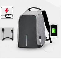 Рюкзак антивор с USB Bobby серый 23 литра