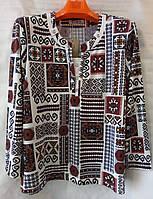 Блуза з орнаментом жіноча батальна (L-I-D-A)