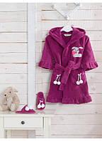 Халат Soft Cotton BUNNY фиолетовый 2-4 года 104см