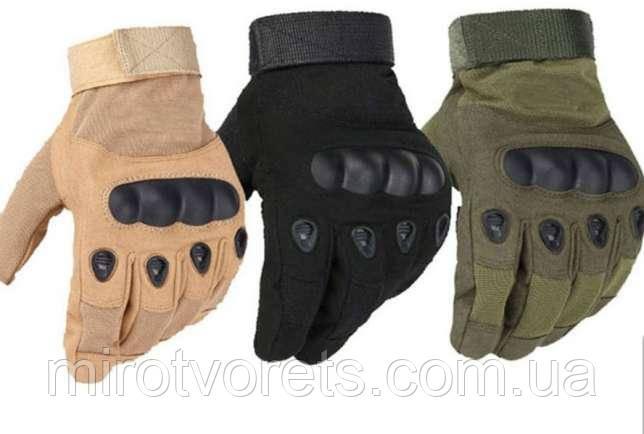 Перчатки тактические OAKLEY полнопалые (р-р XL)