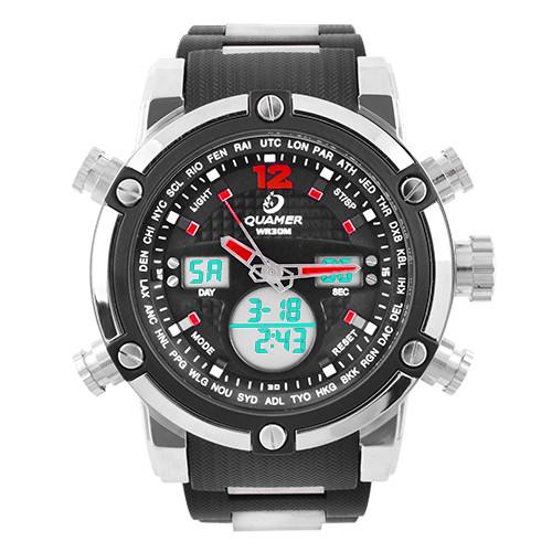 Наручний годинник Quamer 1526 браслет, електронні годинники наручні