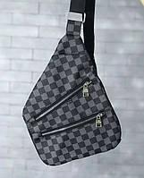 4766fc7e707e Сумка мужская через плечо почтальенка брендовая Philipp Plein (слинг) копия  высокого качества
