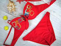 Купальник раздельный Polovi, плавки слип (красный)