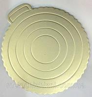 Подложка для Торта круг.Зол/Серебро 400мм (5шт)