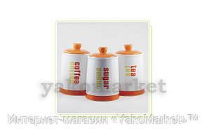 """Набор емкостей керамический Maestro - 3 ед. """"Orange"""" MR-20032-03CS"""