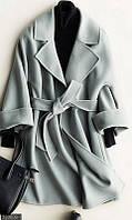 Серое демисезонное пальто женское 42-44,44-46, фото 1