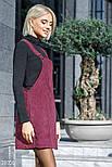 Сарафан из вельветовой ткани цвета марсала, фото 2