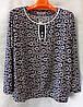 Блуза с цветочным принтом женская батальная (L-I-D-A)