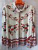 Блуза з квітковим принтом жіноча батальна (L-I-D-A)