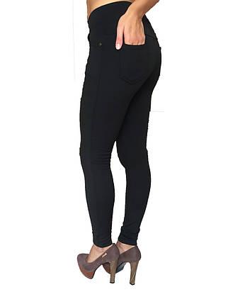 Женские брюки № 151 дайвиг-начес черные НОРМА, фото 2