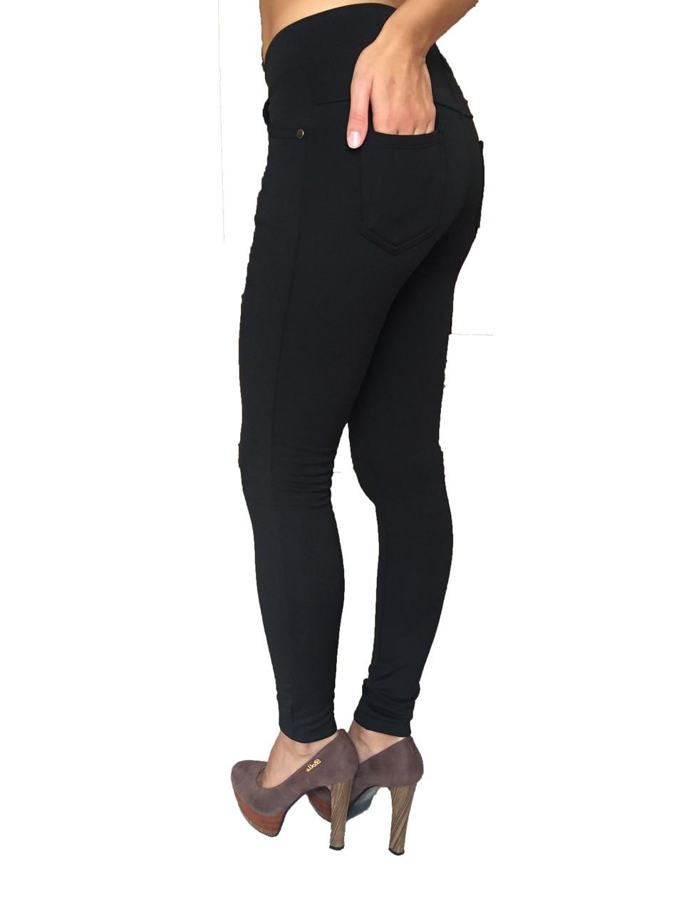 Женские брюки № 151 дайвиг-начес черные НОРМА