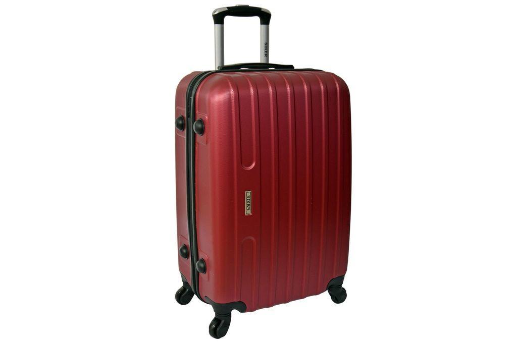 Дорожный чемодан на колесах Siker Line Бордовый Большой