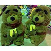 Мягкая игрушка озвученная медведь с бочкой мёда №2118-20