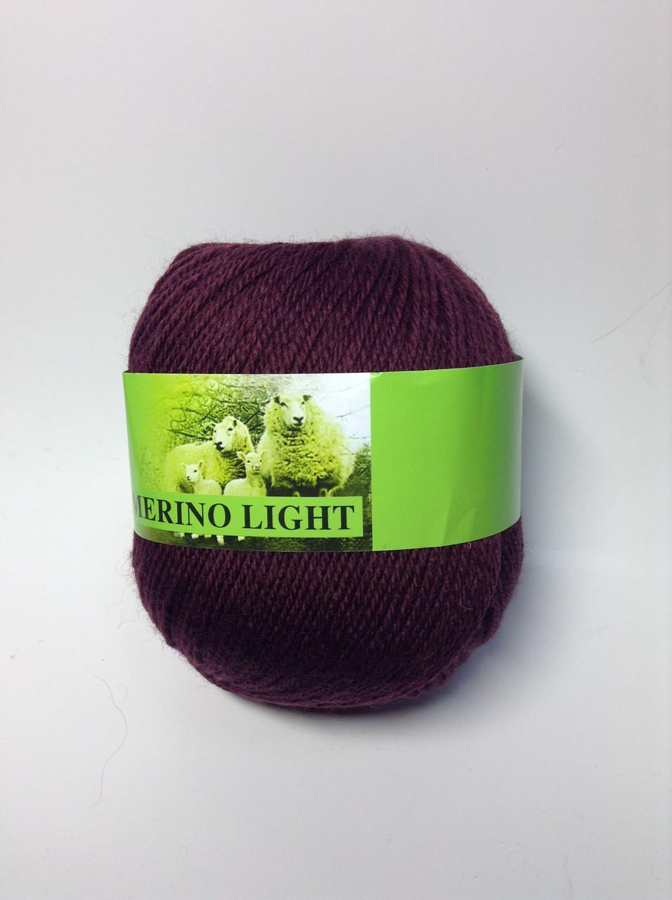 Пряжа Merino light  Китай (70%-шерсть)