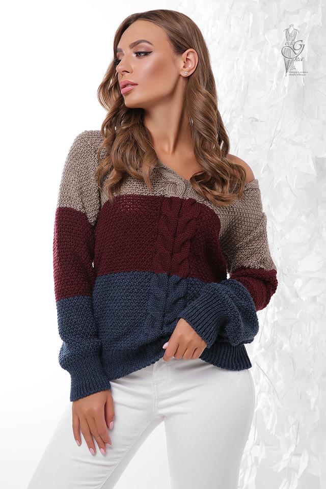 Цвет-2 Вязаного женского свитера Рэйн