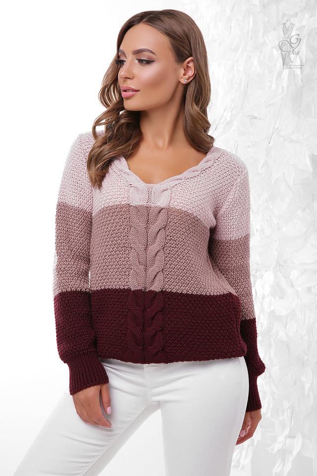 Цвет-6 Вязаного женского свитера Рэйн