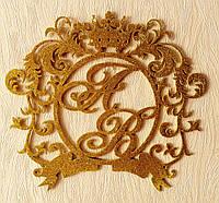 Монограмма на свадьбу из дерева элитная