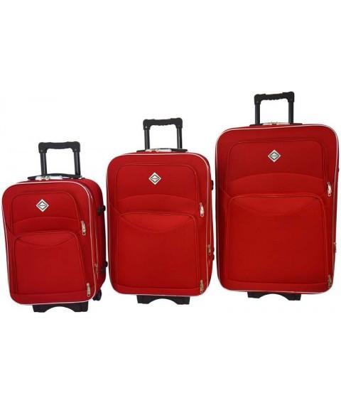 Набір валіз на колесах Bonro Style Червоний 3 штуки