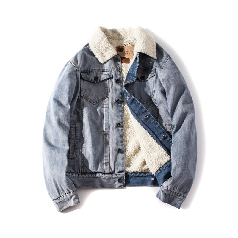 """Куртка мужская джинсовая на меху """"Allsaints Warrior"""" (демисезон/еврозима)"""