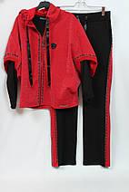 3402140653a2 Женский турецкий костюм тройка 56-58 р красный с черным: продажа ...