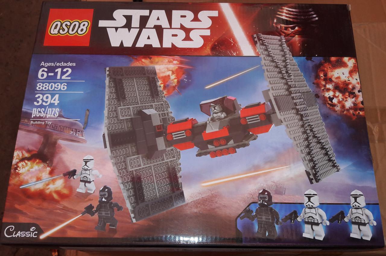 Конструктор QS08 88096 Star Wars Стар Варс Т-Файтер TIE Fighter Первого Ордена 394 детали