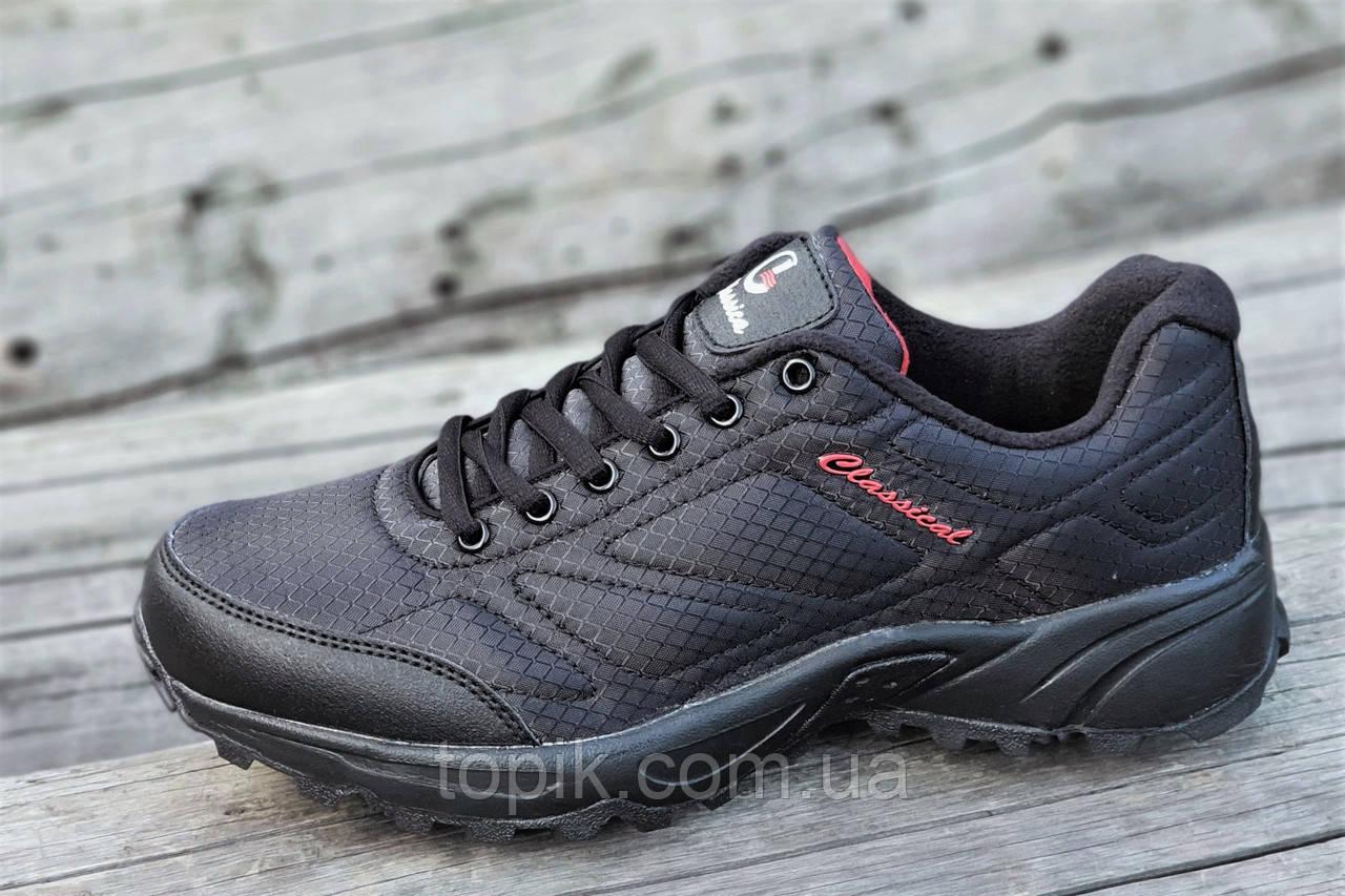 Мужские кроссовки в стиле   черные стильные водоотталкивающие удобные популярные (Код: 1234)