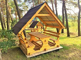 Деревянные беседки на базе отдыха в Ровенской области 3