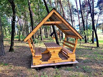 Деревянные беседки на базе отдыха в Ровенской области 5
