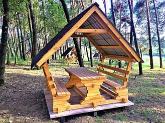 Деревянные беседки на базе отдыха в Ровенской области 9