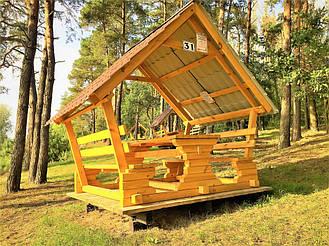Деревянные беседки на базе отдыха в Ровенской области 10