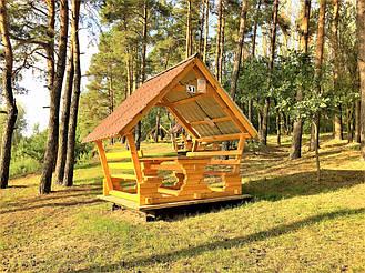 Деревянные беседки на базе отдыха в Ровенской области 11