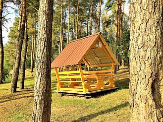 Деревянные беседки на базе отдыха в Ровенской области 12