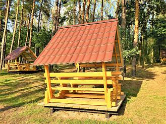 Деревянные беседки на базе отдыха в Ровенской области 14