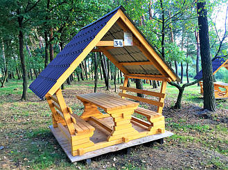 Деревянные беседки на базе отдыха в Ровенской области 15