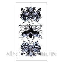 Временная татуировка - жук