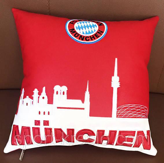 Подушка сувенірна декоративна з вишивкою Мюнхен