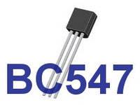 Транзистор BC547   NPN   корпус TO-92 (NPN)