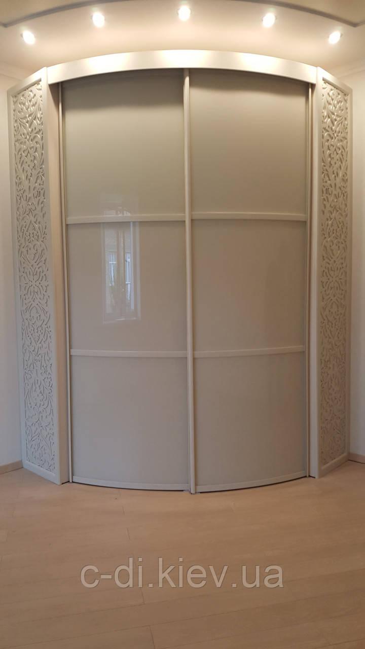 Радиусные раздвежные двери в градероб, фото 1