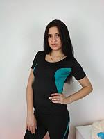 Футболка женская с коротким рукавом для спорта 42-48 р
