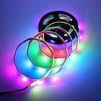 """Адресна світлодіодна стрічка """"Digital RGB"""" SMD 5050 30LED/m, RGB RW 1LED WS2812 IP65 pixel strip"""