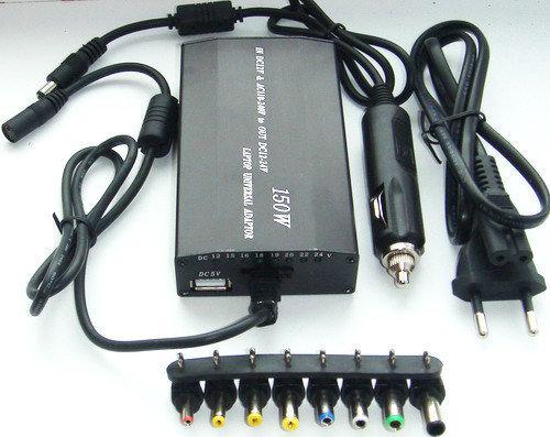 Универсальное зарядное устройство блок питания для ноутбука с авто зарядкой
