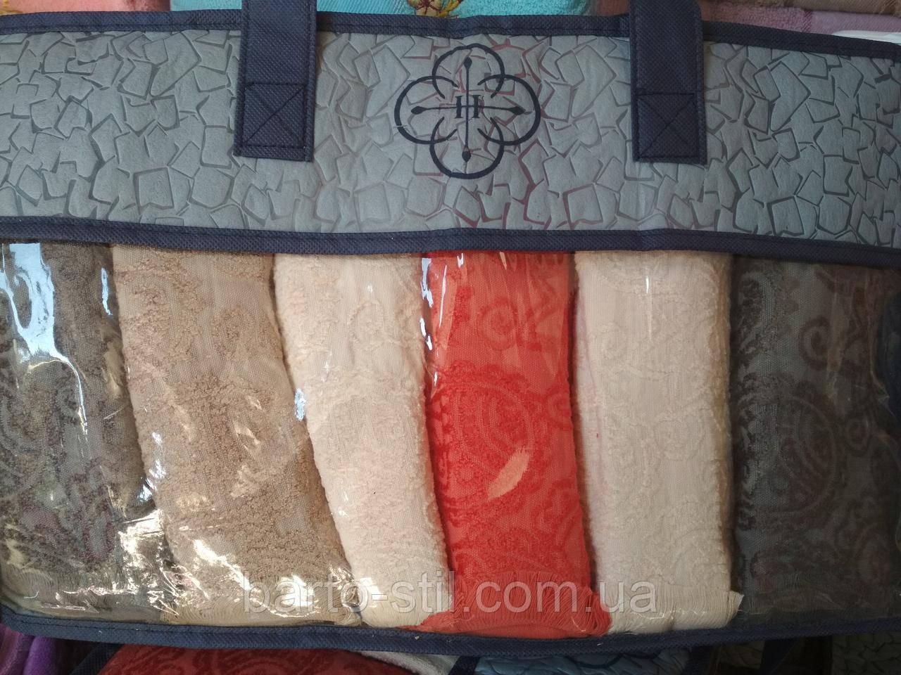 Набор махровых полотенец *Лицо*из 6шт.Размер 90\50 В подрочной упаковке.